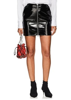 L'Agence Women's Claudia Patent Leather Zip-Front Miniskirt