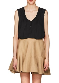 L'Agence Women's Daisy Silk Crepe Blouse