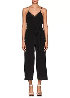 L'Agence Women's Dia Silk Crepe Belted Jumpsuit