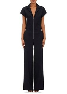 L'Agence Women's Ella Heavyweight Plain-Weave Jumpsuit