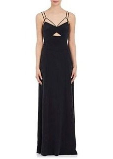 L'Agence Women's Elsa Silk-Blend Maxi Dress