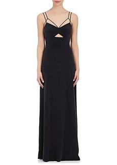 L'Agence Women's Elsa Silk-Blend Maxi Dress