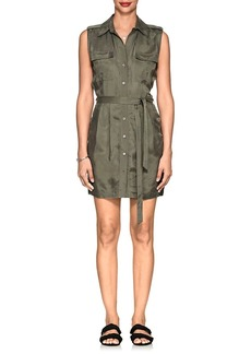 L'Agence Women's Evelyn Washed Twill Shirtdress