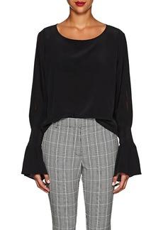 L'Agence Women's Gianne Slit-Sleeve Silk Blouse