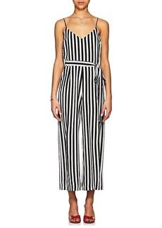 L'Agence Women's Jaelyn Striped Silk Jumpsuit