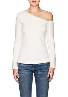 L'Agence Women's Jenny Jersey Cold-Shoulder Top