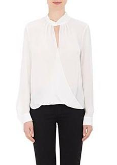 L'Agence Women's Kendra Silk Chiffon Blouse