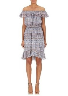 L'Agence Women's Leonie Floral Silk Off-The-Shoulder Dress