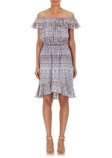 L'Agence Women's Leonie Floral Silk Off-The-Shoulder Dress