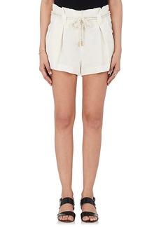 L'Agence Women's Linen Paperbag-Waist Shorts