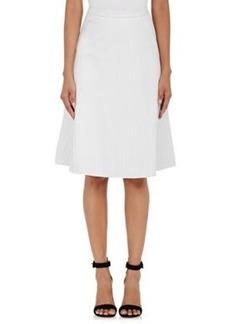 L'Agence Women's Luca Leather Pleated Swing Midi-Skirt