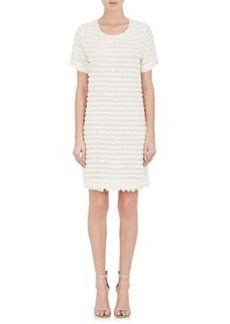 L'Agence Women's Mika Fringed Gauze Sheath Dress