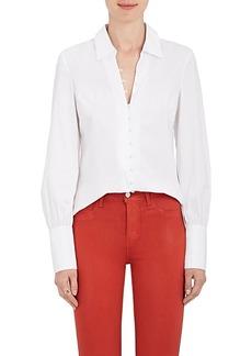 L'Agence Women's Naomi Cotton-Blend Poplin Blouse