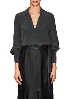 L'Agence Women's Naomi Washed Silk Blouse