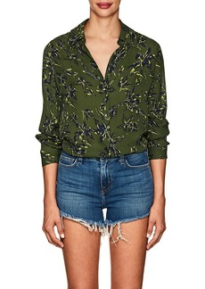 L'Agence Women's Nina Floral Silk Blouse