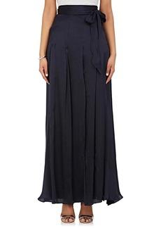 L'Agence Women's Oceane Silk Maxi Skirt
