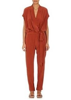 L'Agence Women's Olivia Silk Wrap Jumpsuit