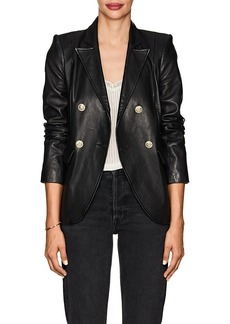 L'Agence Women's Patton Leather Double-Breasted Blazer