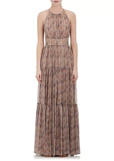 L'Agence Women's Penelope Chiffon Sleeveless Maxi Dress