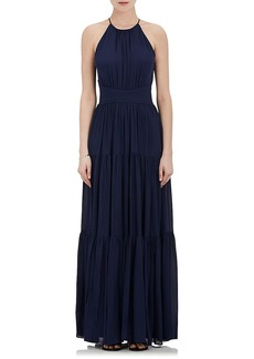 L'Agence Women's Penelope Silk Sleeveless Maxi Dress