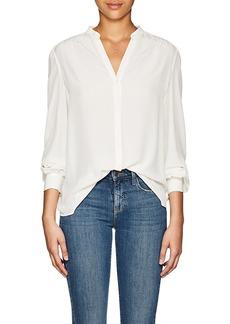L'Agence Women's Raquel Silk Button-Back Blouse