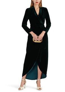 L'Agence Women's Reliah Velvet Wrap Dress