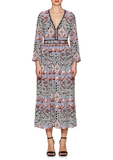 L'Agence Women's Rosalia Paisley Silk Maxi Dress