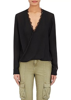 L'Agence Women's Rosario Washed Silk Blouse