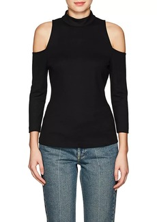 L'Agence Women's Sasha Cold-Shoulder Top