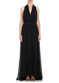 L'Agence Women's Seraphine Silk Georgette Maxi Dress