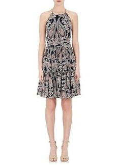 L'Agence Women's Silk A-Line Dress