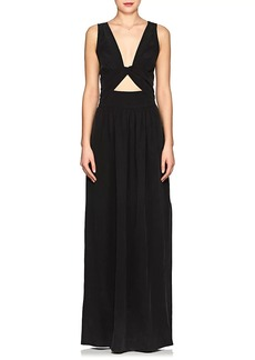 L'Agence Women's Silvano Silk Crêpe De Chine Maxi Dress