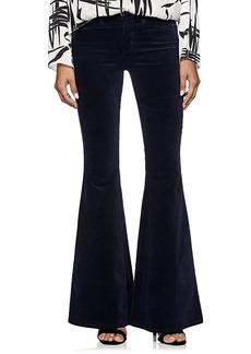 L'Agence Women's Solana Velvet Flared Pants