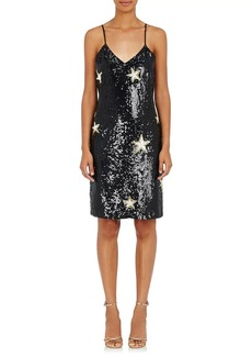 L'Agence Women's Star-Print Sequined Dress
