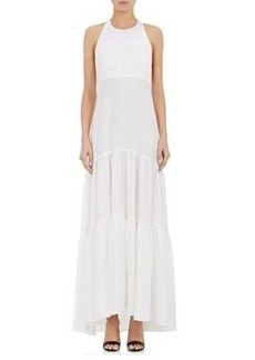 L'Agence Women's Talia Twill Racerback Maxi Dress