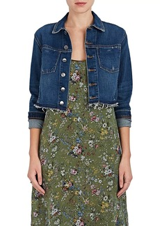 L'Agence Women's Zuma Studded Denim Crop Jacket