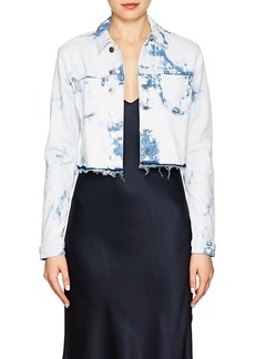 L'Agence Women's Zuma Tie-Dyed Denim Crop Jacket