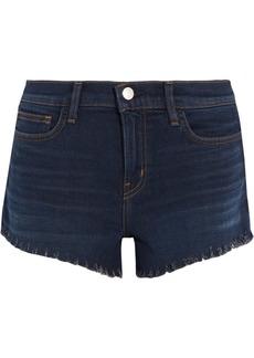 L'Agence Zoe frayed denim shorts