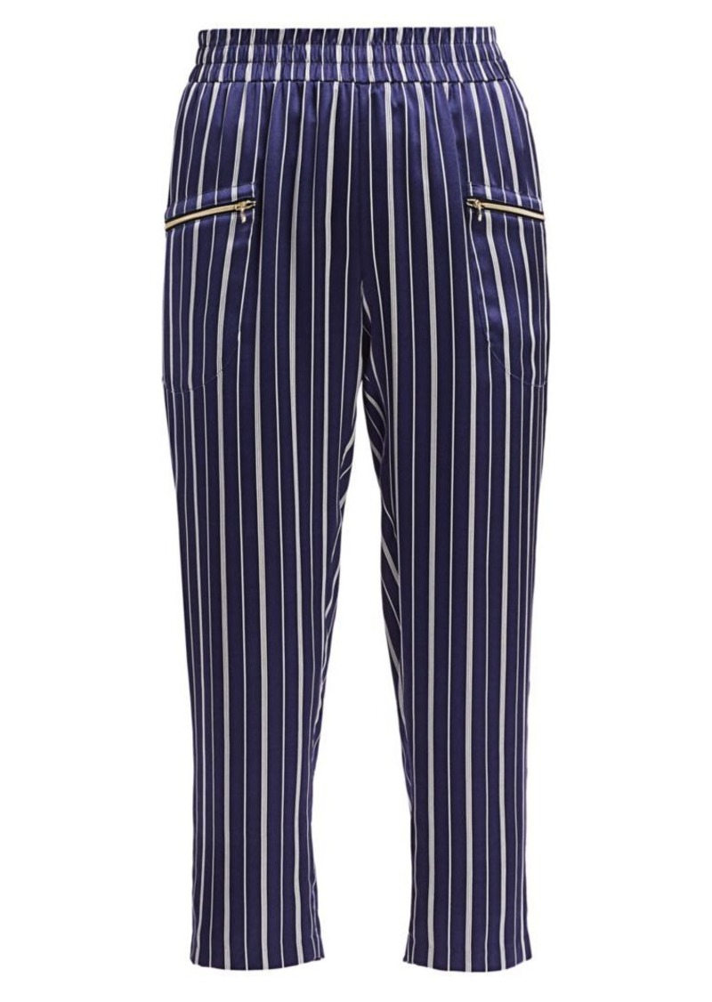 L'Agence Leigh Striped Silk Pants