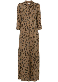 L'Agence leopard print shirt dress