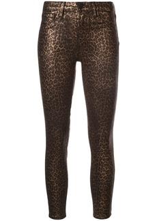 L'Agence leopard print skinny trousers