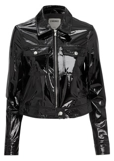 L'Agence Lex Patent Leather Jacket