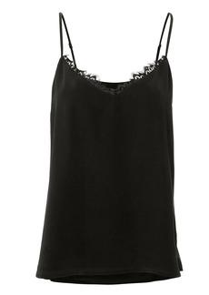L'Agence Lia Lace Trim Black Cami