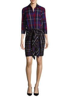 L'Agence Linagence Kylie Plaid Shirtdress
