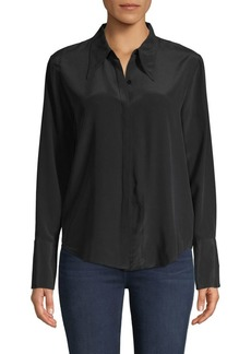 L'Agence Long-Sleeve Silk Shirt