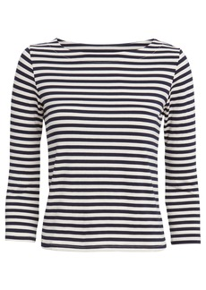 L'Agence Lucy Striped Jersey Top