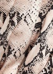 L'Agence Maeve Snake Print Wide-Leg Jumpsuit