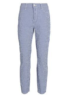 L'Agence Mandy High-Rise Gingham Pants