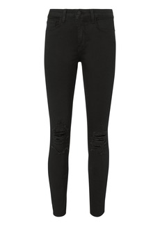 L'Agence Margot Distressed Skinny Jeans