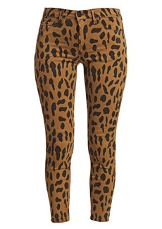 L'Agence Margot High-Rise Animal-Print Ankle Skinny Jeans